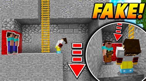 Fake Wall Player Trap Minecraft Skywars Trolling
