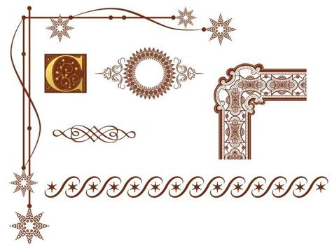 border decoration ideas in what design style do these graphic ornaments and border decorations fit graphic design