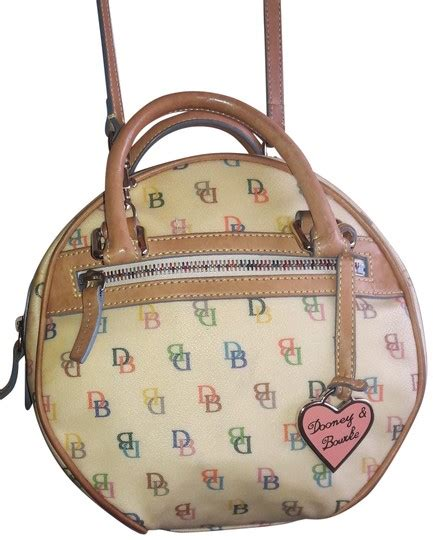 dooney bourke monogram  circle yellow canvas
