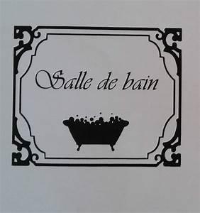 Stickers Porte Salle De Bain : sticker autocollant salle de bain toilettes wc signe porte ~ Dailycaller-alerts.com Idées de Décoration