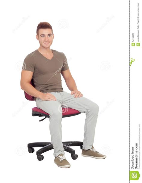 sur chaise casual sitting on an office chair stock image