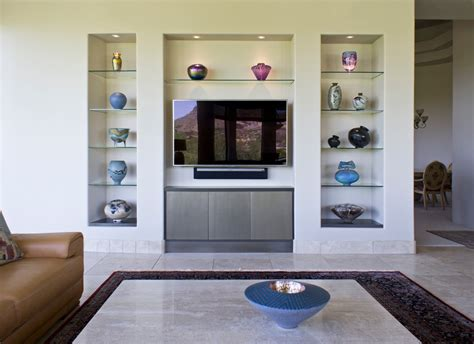 Decorating Ideas For Entertainment Center Shelves by Gorgeous Floating Glass Shelves Mode Modern Living