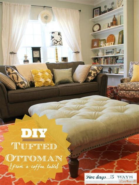 Make An Ottoman From A Coffee Table by Diy Tufted Ottoman M Is For