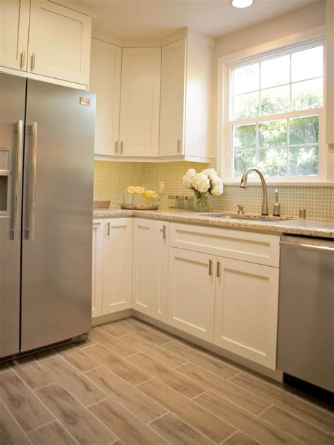 white kitchen cabinets with tile floor photos hgtv 2088