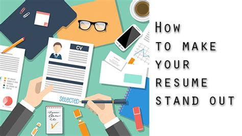 5 tips on getting your resume to stand out an a