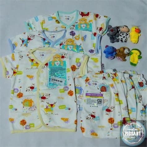 jual baju bayi setelan kancing pendek libby murah di lapak husnayain shop sawal s