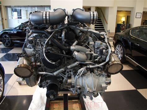Of all time feature name. Bugatti Veyron W16 Engine and Gearbox at HR Owen London