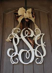 Beautiful 18 inch 3 letter wooden monogram at veryjanecom for 3 inch wooden letters