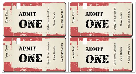 Concert Ticket Template 6 Ticket Templates For Word To Design Your Own Free Tickets