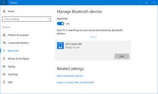 Turn Bluetooth On Windows 10