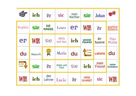 Practice Pronouns, Tenses, Adjectives, Phrases With This German Board Game By Fgibbison