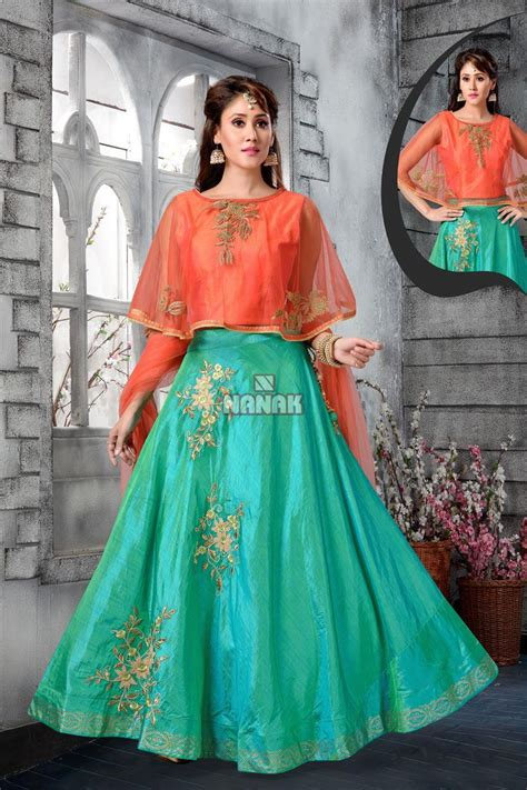 attractive sky color designer dress  women