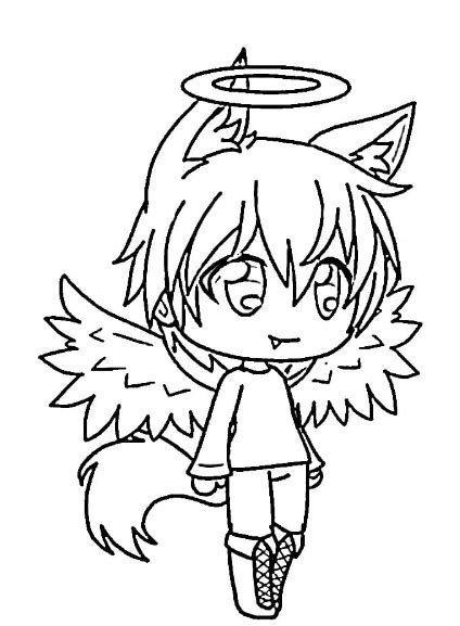 gacha life coloring pages  coloringpagesinfo