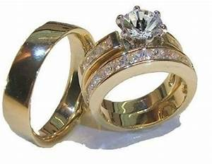 his and hers wedding rings 3 piece engagement wedding ring With 3 piece his and hers wedding rings