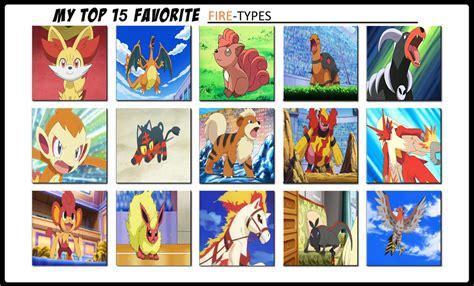 My Top 15 Favourite Firetype Pokemon By