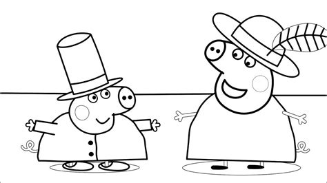 Peppa Pig Dressing Up, Clothes Coloring Pages For Kids