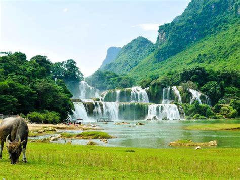 ban gioc detian falls river son desktop wallpaper hd