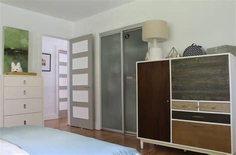 cool closet doors bedroom contemporary with beige bedding