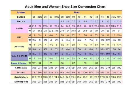 women shoes   size chart business pinterest