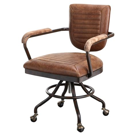 foster office chair light brown dcg stores
