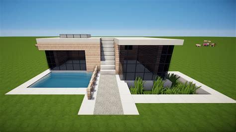 Modernes Haus In Minecraft Pe Bauen by Minecraft Modernes Haus Bauen Tutorial Haus 102