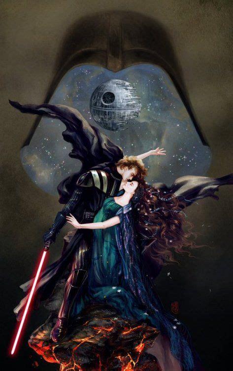 amazing fan art  anakin skywalker  padme