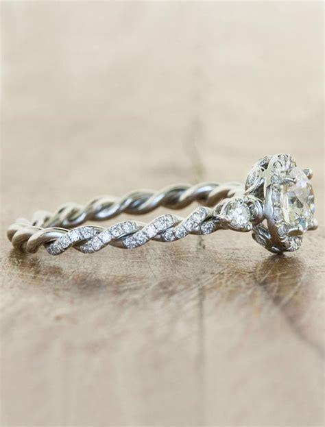 keren twisted rope band diamond engagement ring ken