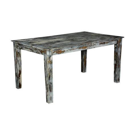 grey speckled distressed wood kitchen dining table