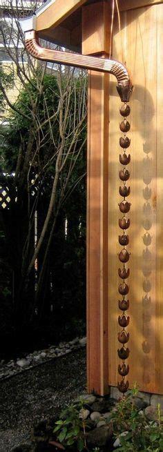 gutter chain drain water wheel copper downspout gutters downspouts 1522