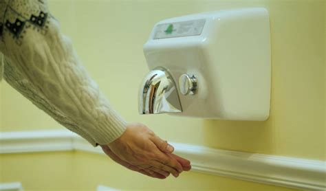 hand dryers cover  hands  germs