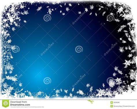christmas flake border blue stock illustration image
