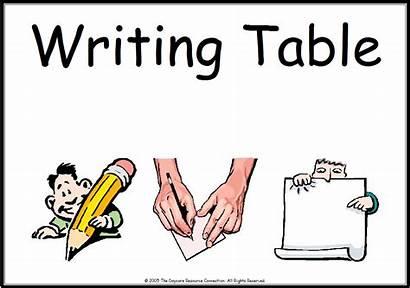 Writing Center Clipart Table Classroom Library Preschool