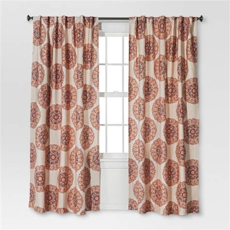 Target Drapery Panels by Medallion Curtain Panel Threshold Target