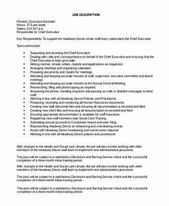 Personal Profile Format In Resume Sample Executive Assistant Job Description 8 Examples