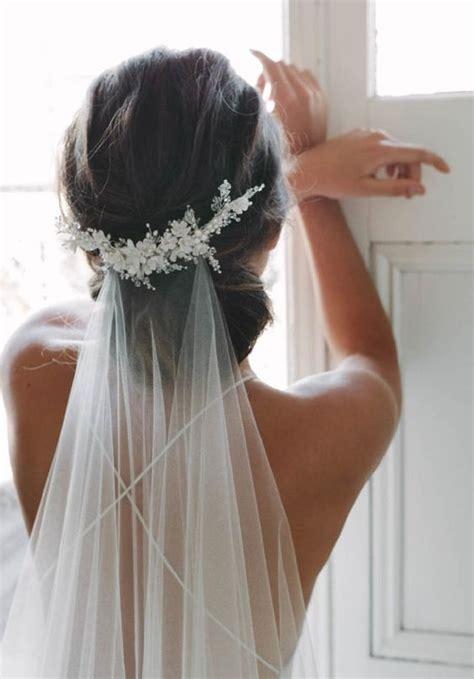 wedding hairstyles veil with headpiece