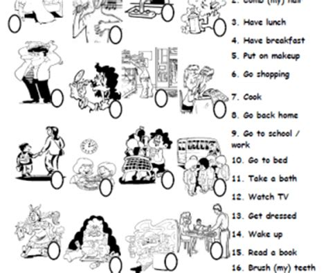 daily routines matching activity