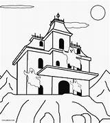 Haunted Coloring Pages Printable Colouring Print Cool2bkids Sheets Halloween Ghosts Templates Spooky sketch template