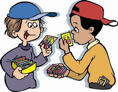 Clipart Pokemon Trading Kid Cards Cliparts Clip