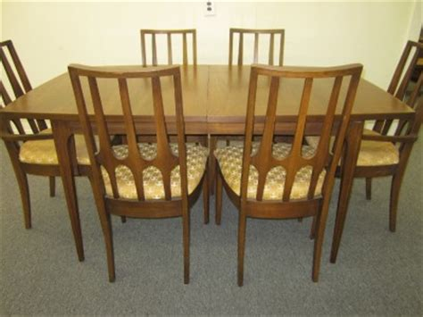 fabulous set of 6 brasilia broyhill dining chairs mid