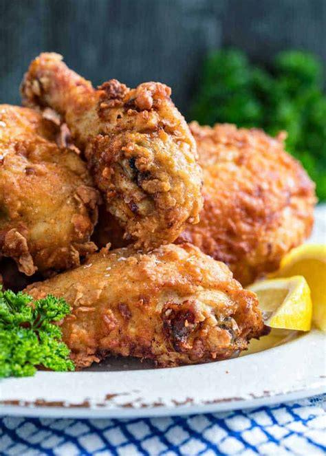 chicken fried southern recipe buttermilk cornstarch flour dinner sunday seasoned brine cooking plate true