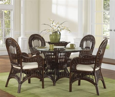 dining room sets rustic rattan dining chairs presenting modern rusticity for