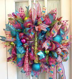 Deco mesh wreaths on Pinterest