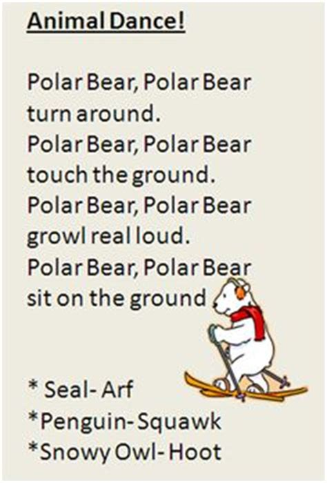 winter animal songs for on polar bears 373 | 7a63567bdaeeec624316250e45183578