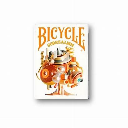 Cards Playing Bicycle Surrealism Shuffle Riffle