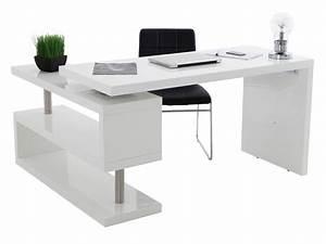 Bureau D Angle Enfant : bureau d 39 angle en bois avec tag res l140cm stand ~ Teatrodelosmanantiales.com Idées de Décoration