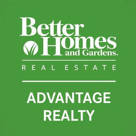 better homes and gardens real estate advantage realty logo