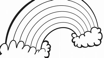 Rainbow Coloring Pages Spring Printable Clipart Clip