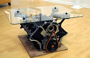 Mustang engine block coffee table for Engine block coffee table