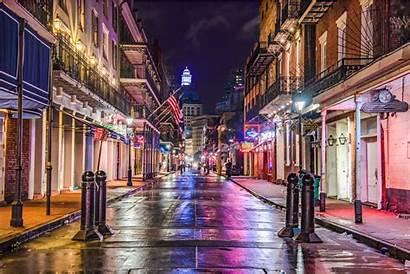 Orleans Bourbon Louisiana Usa Covid Downtown Street