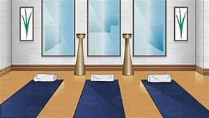 A Small Yoga Room Vector Clip Art Cartoon